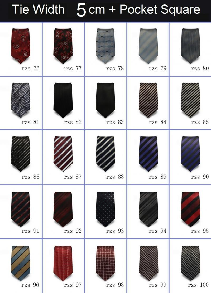 Silk Neck Ties with Pocket Square, Pure Silk Tie, 100% Silk Neck Tie, Neck tie