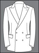 Custom Double Breasted Two Real Button Cashmere Wool Suits Bespoke