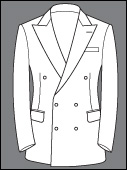 Custom Double Breasted Two Real Button Holes six button cashmere wool suit