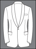 Custom Tailored Single Breasted Shawl Lapel 2 Button Tuxedo Bespoke Suits