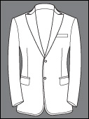 Made to Measure Bespoke Single Breasted 2 Buttons Peak Lapel Tuxedo Suit