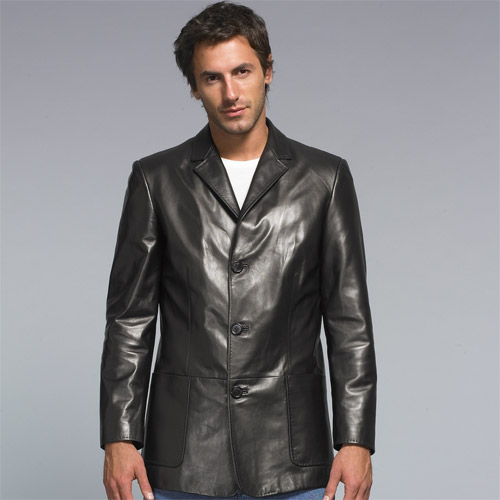 Custom made men's leather jacket casual wear for all occasion, high quality item